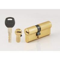 Цилиндровый механизм CORSARRE C.100-12.SB (70мм/40+30/Матовое Золото)