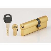 Цилиндровый механизм CORSARRE C.100-32.SB (90мм/55+35/Матовое Золото)